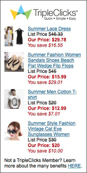 TripleClicks products banner